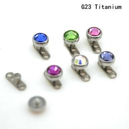 edelstein-sortierung Rabatt Dermal Anchor Skin Diver Body Piercing Schmuck Grade 23 Titan G23 CZcrystal GEM 4mm Haupt Micro Retainer