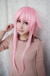 Wholesale Yuno Gasai Cosplay Wig - MCOSER Promotion High Quality Synthetic The Future Diary Gasai Yuno 39 Inches Long Straight Pink Girl Cute Cosplay Wig