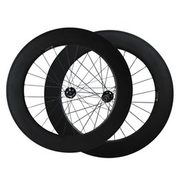 Wholesale 88mm Wheels - 700C Full Carbon Cyclocross Wheels Thru axle or QR Disc brake carbon bike wheels 88mm Clincher cyclocross wheelset