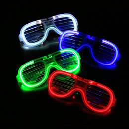 Wholesale Rave Halloween Costumes - Flashing LED Glasses Lighting Glowing Toys For Dance DJ Party Rave Costume Christmas Birthday Halloween Decoration