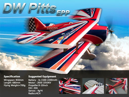 Wholesale Epp Airplane - Wholesale- RC Plane EPP Airplane Model Pitts 850mm Wingspan