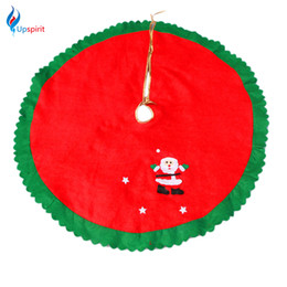 Wholesale Xmas Aprons - Wholesale- 2016 Non-Woven Fabrics Christmas Tree Skirt Aprons Navidad Christmas Decoration for Home Party Xmas Tree Decor Festival Supplies