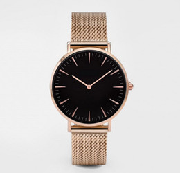 Wholesale Gold Mesh Dress - 2017 hot New women luxury dress full steel mesh watches fashion casual Japan quartz wrist watch Top brand new Gold silver clock