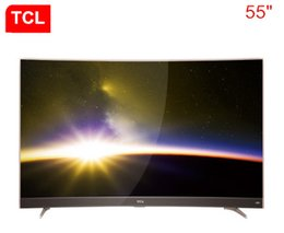 "Wholesale Product Sound - TCL 55 ""Gold Curved Surface 4K Ultra HD Conchs Sound Sound Intelligent Curved Surfaces TV Hot New Products Free Shipping"