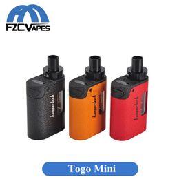 Wholesale Electronic Cigarette Kanger - Original Kanger TOGO Mini Kit 1600mah All Ine One Starter Kit with CLOCC Coil Head 1.9ml Capacity Electronic Cigarette 2.0