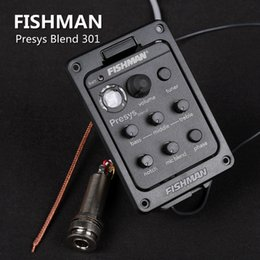 Wholesale Band Eq - Fishman presys blend 301 Dual Mode Guitar Preamp EQ Tuner Piezo Pickup Equalizer System With Mic Beat Board In Stock