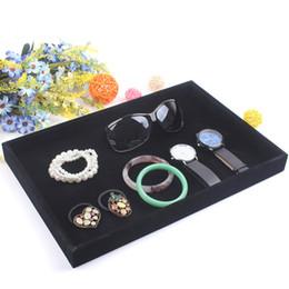 Haute Qualité Noir Bijoux Plateau Affichage Bracelet Holder Ring Boucle D'Oreille Plaque Collier Pendentifs Plateau Bijoux Vitrine ? partir de fabricateur