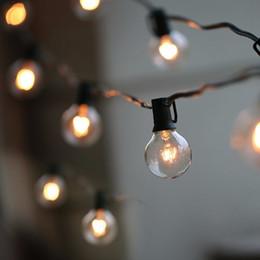 Iluminação string outdoor pátio on-line-50ft g40 bulbo globo luzes da corda com lâmpadas claras pátio quintal luzes, lâmpadas do vintage, decorativo ao ar livre guirlanda de casamento