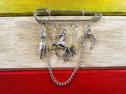 Wholesale Kilt Pins Wholesale - Wholesale- Hot sale brooch Horse kilt pin brooch (50 mm)