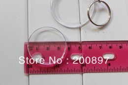 Wholesale monkey Hot promotion DIY plastic blank keychain round key ring chain Dia cm keychain design ring audio