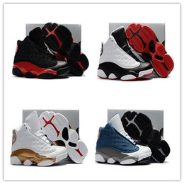 Wholesale Pink Baby Sneakers - Best 2017 retro 13 Kids Basketball Shoes Flint Blue Bred 13 14 DMP Pack men basketball shoes sneakers 11 retro sports Baby, Kids shoes