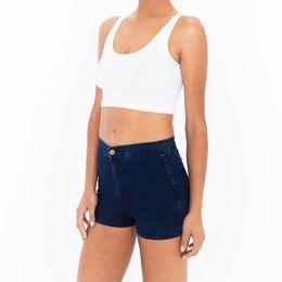 Wholesale American Apparel Xs - American Women Vintage Apparel Slim Bottom Tight-fitting High Waist Shorts Sexy Denim Shorts AA