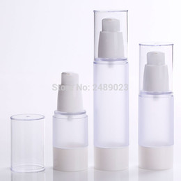 Wholesale Liquid Refills - 15ml 30ml 50ml Frosted Body Bottles Clear Airless Vacuum Pump Empty for Refill Container Lotion Serum Cosmetic Liquid 10pcs lot