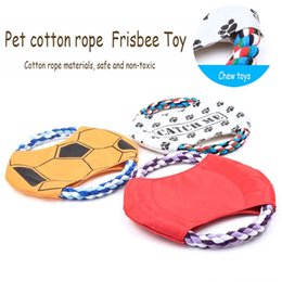 Wholesale Large Rope Dog Toy - Recommend Diameter 17cm Innovative Design Cotton Rope Waterproof Pet Frisbee Toys Small Medium Large Dog Training Good Helper