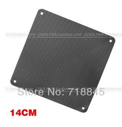 Wholesale New Brand Computer Case - Wholesale- 5Pcs Brand 14CM Dustproof net computer fan fan dust cover, fan dust cover Free Shipping New PVC