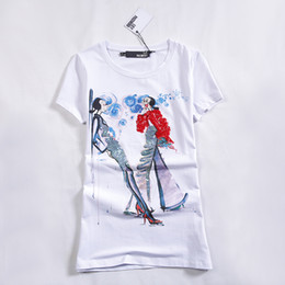 Wholesale T Tops China - Big Size T-Shirt XXXXL 6XL Print Camisetas y Tops Casual Mujer Cheap Clothes China Roupas Summer Fashion t Shirt Women Tops Tee