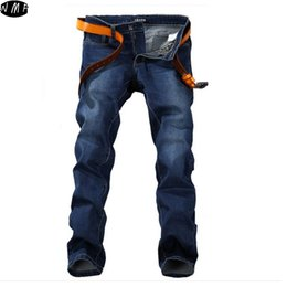 Wholesale Men Pants Style Price - Wholesale-Plus size 28-48 men's jeans good quality straight stretch jeans men hot sale low price designer mens jeans pants MJ28