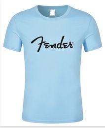 Wholesale Guitar Long Sleeve - New fashion summer 2017 Guitar brand fender t shirt 100% cotton tops Short Sleeve T-shirt High quality printed tees size sx-xxxl