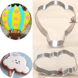 Wholesale Cupcakes Accessories Wholesale - 2pcs patisserie reposteria Hot Balloon Cloud Cookie Cutters Moldes Metal Sugar Fondant Cake Decor Cupcake Pastry Paste Gum Kitchen Accessory
