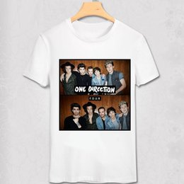 Wholesale One Direction Music - Wholesale- One Direction T shirt Louis Tomlinson Niall Horan Liam Payne Harry Styles Pop Music Stars Fans T-shirt 1D Casual Funny shirt