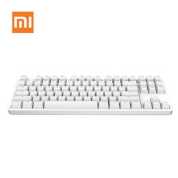 Wholesale Keyboards Laptops - Mechanical Keyboard Xiaomi Yuemi 87 Keys LED TTC Red Switch Backlight Game Keyboard Backlit Aluminium Alloy Laptop Free Shipping