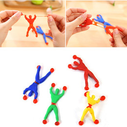 Wholesale Sticky Spider Man - 100PCS LOT Climbing Walls Superman Spiderman Sticky Soft Climb Wall People Children Toys Nostalgic Educational Spider-man Toys for Children