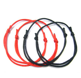 Wholesale Evil Eye Diy - Free Shipping NEW 100Pcs DIY RED string LUCKY bracelet KABBALAH against EVIL eye SUCCESS luck