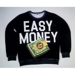 Wholesale Usa D - Real USA size cutom made Easy Money Kevin D 3D Sublimation print Sweatshirt Crewneck Plus Size