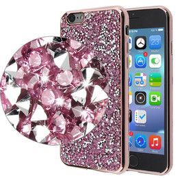 Wholesale Diamond Cover Case Crystal - Rhinestone Crystal Bling Soft Electroplate TPU cover Luxury cases for iphone 7 7plus Diamond Case for iphone 6 6s plus samsung s7 edge