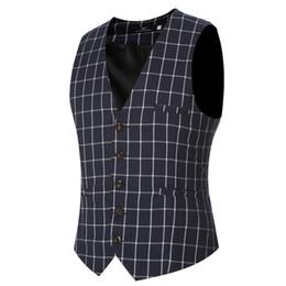 Wholesale Wholesale Mens Shirts Buttons - Wholesale- 2016 Mens Waistcoat Vest Autumn Men Slim Shirt Vest For Suit Tuxedo 5 Buttons Male V-neck Luxury Jacket Casual Tank Tops VS02