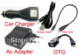 Wholesale Dc Asus Port - Wholesale-EU Wall Charger Adapter 5V 2A DC Car Charger USB Port +Data Cable for Asus Eee Pad ME370T For Lenovo Pad S2010A S2109 S6000
