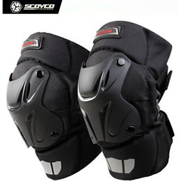 Wholesale Scoyco Elbow - Wholesale- Scoyco K15-2 Winter Thermal Windproof Motorcycle Motocross Racing Knee Pads Sports Safety Kneepads Protective Gear - 2017 New