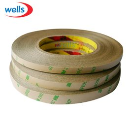 Wholesale Wholesale 3m Adhesive Strip - Wholesale-50M Roll 8mm 10mm 12mm Double Sided Tape 3M Adhesive Tape for 3528 5050 ws2811 Led strips