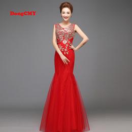 Wholesale Pattern Pictures - 2017 new mermaid double-shoulder lace bridal long design robe de soiree tail formal vestidos longo Prom Dresses