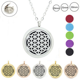 Wholesale Rose Aromatherapy - With chain as gift! 316L Stainless Steel Aromatherapy Locket silver gold rose gold essential oil diffuser locekt necklace