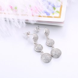 Wholesale Wholesale Situation - Pendant Earrings With Fine Ring Shape 925 Silver 18k Platinum Style Unique Southeast Asian Style Apply Social Situations