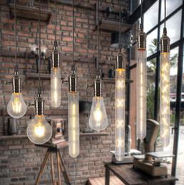 Wholesale E27 2w - 2W 4W 6W 7W 8W E27 LED Filament Bulb Clear Glass Edison Light Bulbs For indoor Vintage Lamp Lighting