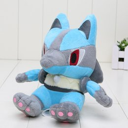Wholesale pokemon pikachu plush - 5pcs 18cm Lucario plush toy Pikachu plush doll soft stuffed animal anime Poke Plush Toy