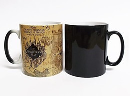 Wholesale temperature color changing mugs - Promotion Harry Potter Marauders Map Heat Reveal Mug Color Change Coffee Cup Sensitive Morphing Mugs Temperature Sensing gift