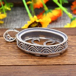 Pendant semi mount oval coupons promo codes deals 2018 dhgate sterling silver 925 oval cabochon 27x36mm semi mount pendant art nouveau filigree fine silver pendant setting mozeypictures Image collections