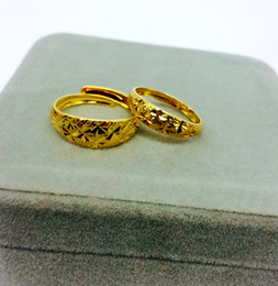 Wholesale Dragon Phoenix Jewelry - Fashion Gold Color Jewelry Dragon And Phoenix Couple Rings For Lovers Ajustable Open Engagement Rings Gift
