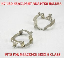 Wholesale Holder Class - 2PCS H7 LED Headlight Conversion Kit Bulb Metal Iron Base Holder Adapter Retainer Socket Clip For Mercedes Benz B Class Upgrade HID Halogen