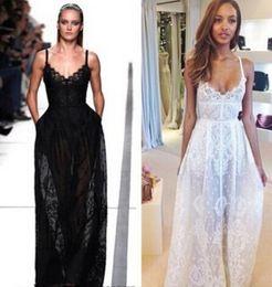 Wholesale Elie Saab Spaghetti Strap Dress - elie saab dresses 2017 Sexy Spaghetti Straps Summer Boho Beach Wedding Dresses White Lace Bridal Gown