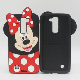 Wholesale Iphone Beat Case - Cartoon 3D Minnie Mouse Phone Case Soft Silicone Back Cover for LG G Stylo G4 Stylus V10 K10 K8 K7 Spirt G4S G4 Beat X Screen Max Bello 2 II