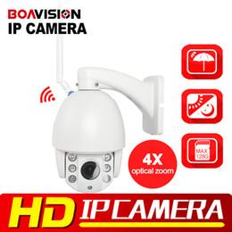 Wholesale Dome Wireless Ptz Ip Camera - HI3516C+SONY323 HD 1080P 960P Wifi PTZ Dome IP Camera 4X Zoom Auto Focus 2.8-12mm 2MP Outdoor Wireless IR Onvif SD Auido