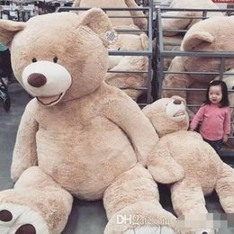 Wholesale Huge Stuffed Toys - 2017 Wholesale 160cm GIANT HUGE BIG BROWN TEDDY BEAR COVER SHELL STUFFED ANIMAL PLUSH SOFT TOY
