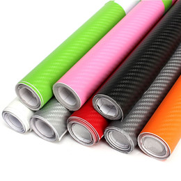 Wholesale Carbon Fiber Rolls Wholesale - Wholesale- 2015 Brand New 200x40cm DIY Waterproof Carbon 3D Sticker Car Decal Fiber Vinyl Wrap Roll Available Decorative Film Sheet