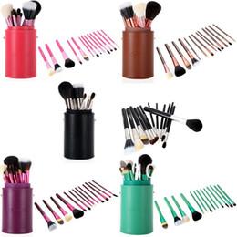 Wholesale Cup Holder Case - Original Ismine Black 13 Pcs Professional Makeup Brush Set Cosmetic Brush Kit Makeup Tool Make Up Brushes +Cup Holder Case