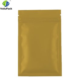 Wholesale Small Foil Bags - 8.5*13cm Colors Heat Sealable Aluminum foil ziplock food candy package bag small 3MIL Flat Bottom gold zip lock bag 100pcs