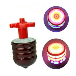 Wholesale Big Led Effect Light - SUPER Spinning TOP GYRO Spinner Laser LED Music Sound Lighting Shining Fantastic Effect Funny Party Toy Gift Child Kid Xmas JF-083